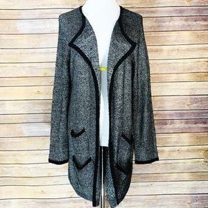 Soft Surroundings Silver Long Cardigan Sweater
